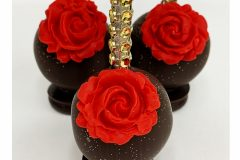 Chocolate with red rose