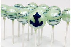 Mint with royal blue anchor