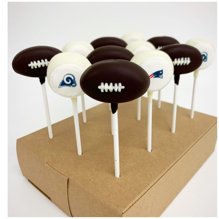 Rams and Patriots Superbowl Cakepop