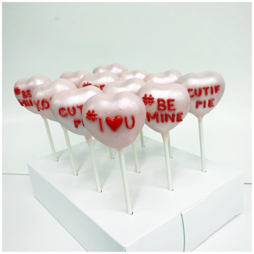 Conversation Hearts Cakepops