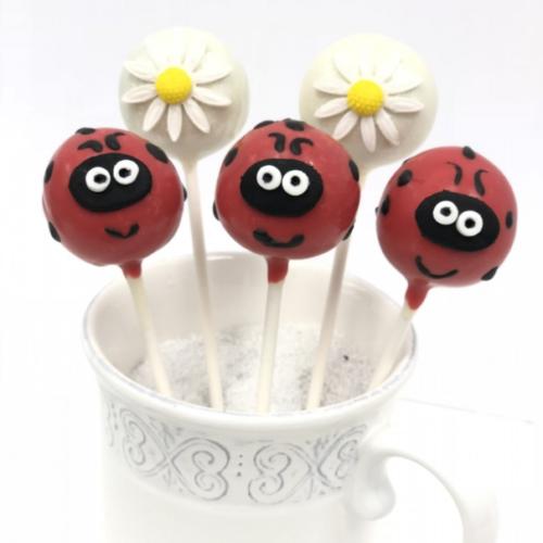 Lady Bugs Cakepops