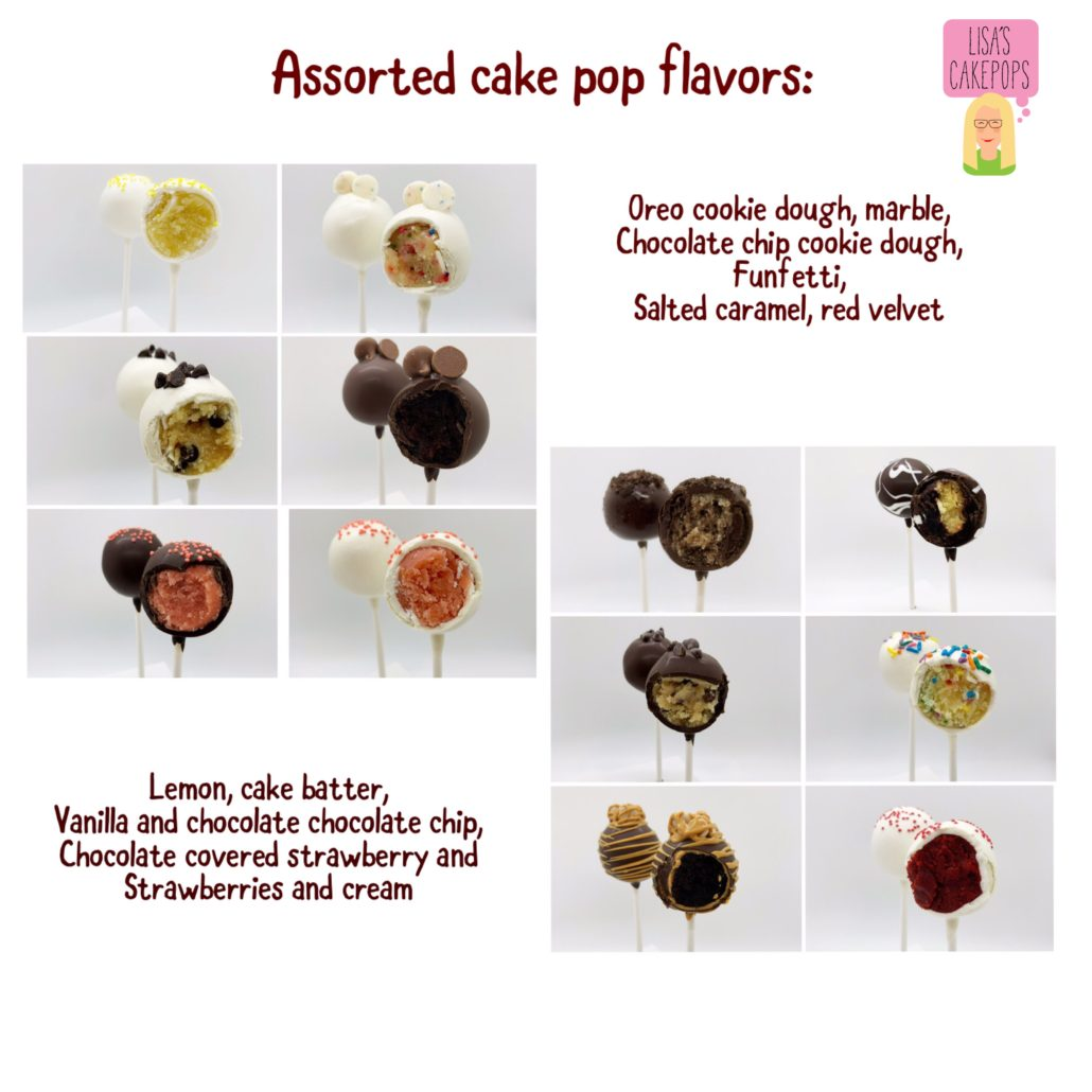 assorted cakepop flavors
