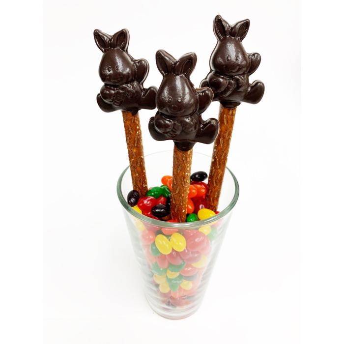 chocolate bunny pretzels